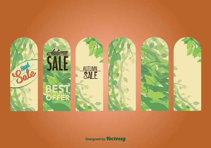 Free vector Seasonal Autumn Sale Labels & Tags #26454