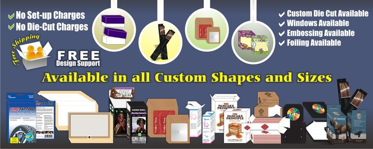 Custom Packaging Boxes and Custom Printed Boxes available in all custom shapes and sizes. Free Shipping and Free Design Support will be provided with No Set-up Charges and Die-Cut Charges. Custom die-cut, windows, foiling, embossing available.