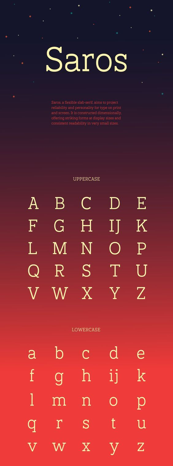 Saros Free Font par Brenan Stetzer | 07