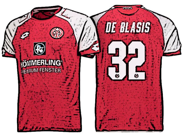 FSV Mainz 05 Kit Jersey For Cheap pablo de blasis 17-18 Home Shirt