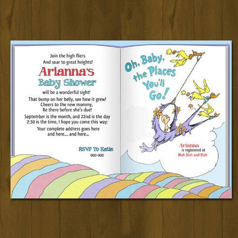 the places you 39 ll go theme by dr seuss works well for baby showers