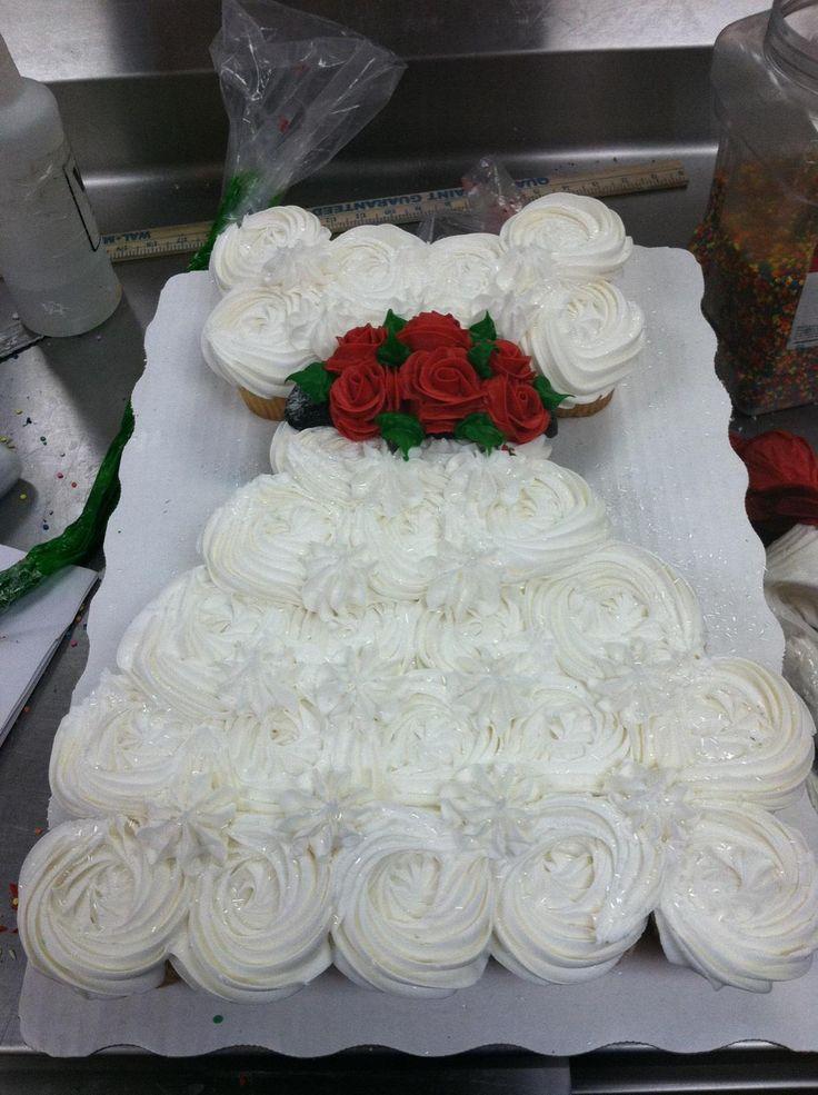 Wedding Dress (Cupcake Cakes)