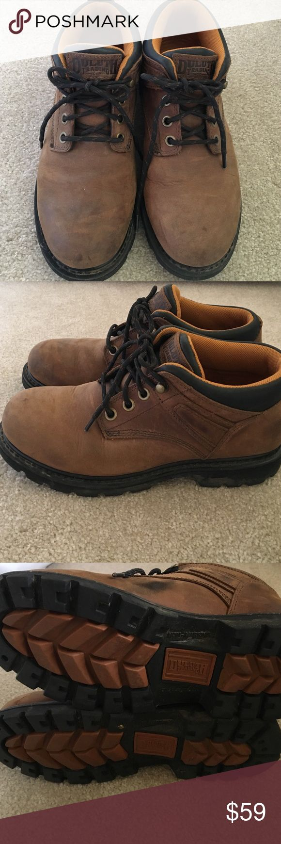 DULUTH TRADING CO. Brown leather work BOOT Great brand DULUTH TRADING leather boot worn only a couple of times. Some normal scuffing but really good condition ‼️ No Trades duluth trading co Shoes Boots