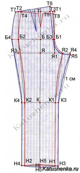 Мужские брюки построение чертежа выкройки