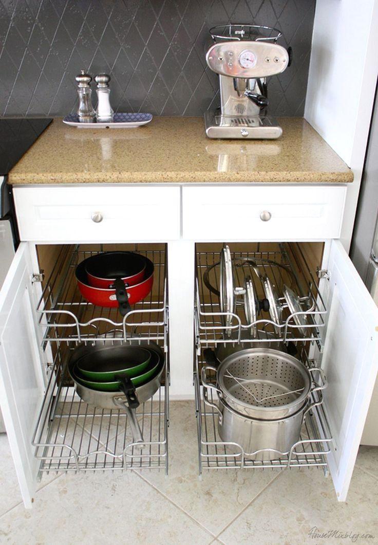 Die besten 25+ Küchenschränke organisieren Ideen auf Pinterest - ordnung kleiderschrank tipps optimalen einraumen