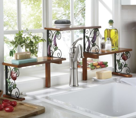 2-tier Garden Bounty Over-the-Sink Shelf from Ginny's ® You really need this if you have one of those tall faucets!