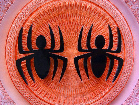3 pcs  Big Black Spider Acrylic Laser Cut by CraftyMissBettie