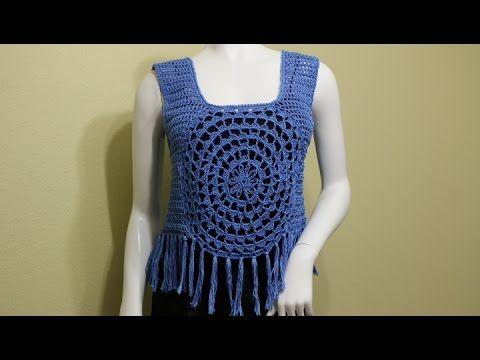 Blusa con Flecos Crochet