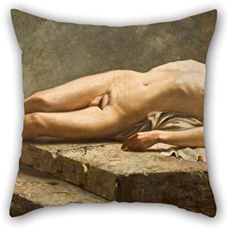 Pillowcover 20 X 20 Inches / 50 By 50 Cm(twin Sides) Nice Choice For Kitchen Dinning Room Gf Boy Friend Adults Sofa Oil Painting Carlos Baca-Flor - Reclining Nude ** Be sure to check out this awesome product. (This is an affiliate link) #Bedding