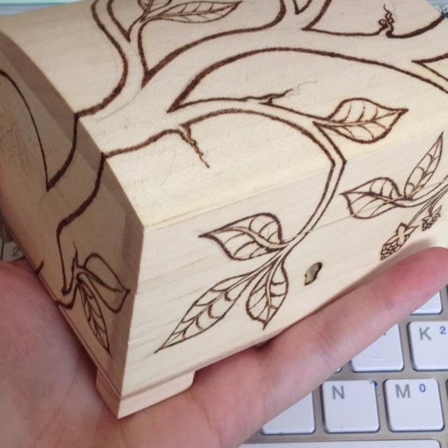 Wooden pyrography box. So far.