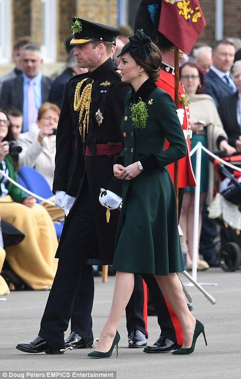 The Duke and Duchess of Cambridge are honouring soldiers from the Irish Guards on St Patrick's Day in London before travelling to France for a two-day Brexit charm offensive.