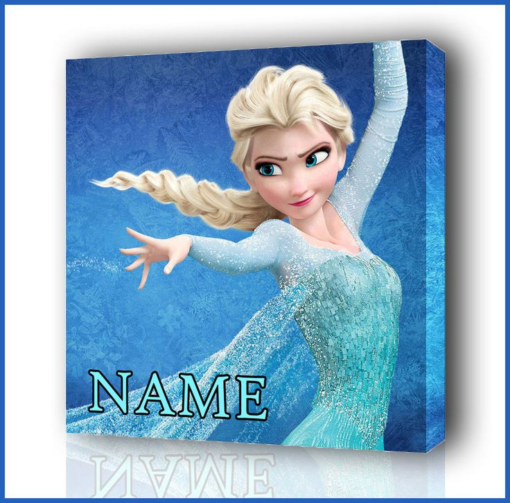 PERSONALISED DISNEY FROZEN ELSA CANVAS PICTURE PHOTO PRINT BOX FRAMED CANVAS