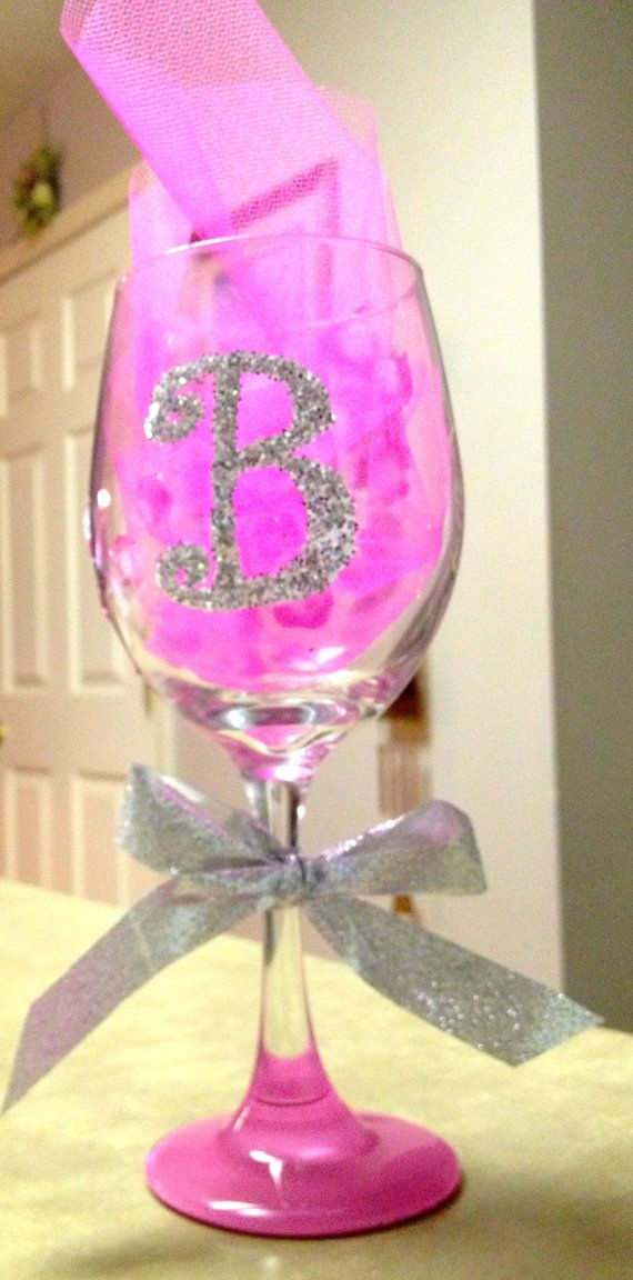 Hand painted and decorated wine glasses. My friend Bri sells these! Buy some from her!
