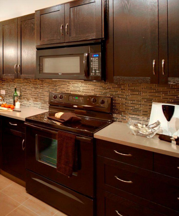 27++ Glass tile backsplash with dark cabinets inspirations