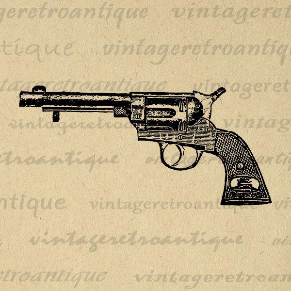 Classic Revolver Graphic Printable Digital Gun Clip Art Image Download Antique Clip Art Jpg Png Eps Print 300dpi No.1491 @ vintageretroantique.com #DigitalArt #Printable #Art #VintageRetroAntique #Digital #Clipart #Download #Vintage #Antique #Image #Illustration