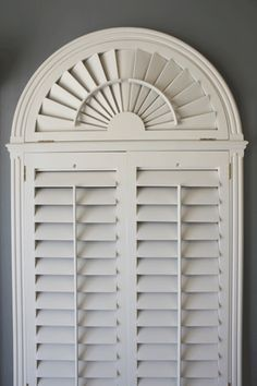 Elliptical Window With Shutters Underneath Google Search Arched Curtainsarch