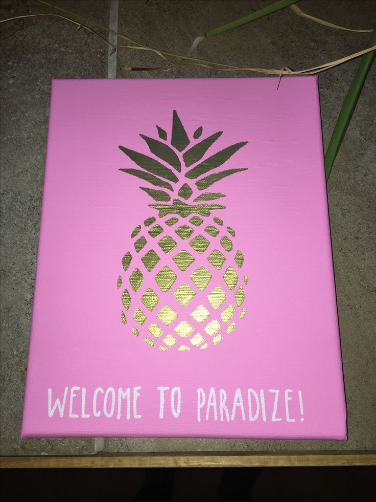 welcome to paradize paradise delta zeta sorority big little craft canvas. used acrylic paint and white paint marker.