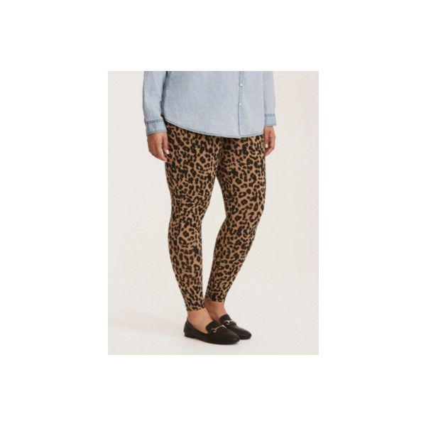 Torrid Leopard Print Full Length Leggings ($20) ❤ liked on Polyvore featuring pants, leggings, bottoms, plus size, printed leggings, purple, womens plus size leggings, plus size brown leggings, plus size leopard print leggings and leopard print leggings