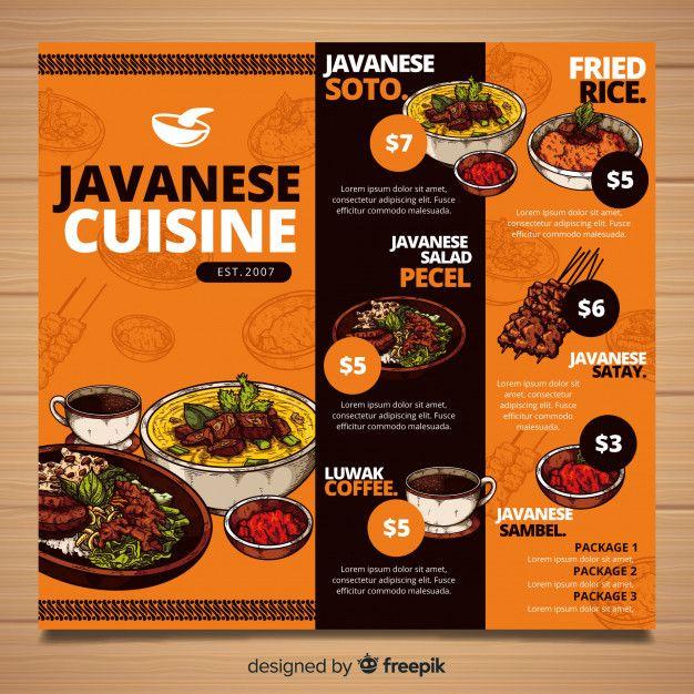 Download Restaurant Menu Template for free (Dengan gambar ...