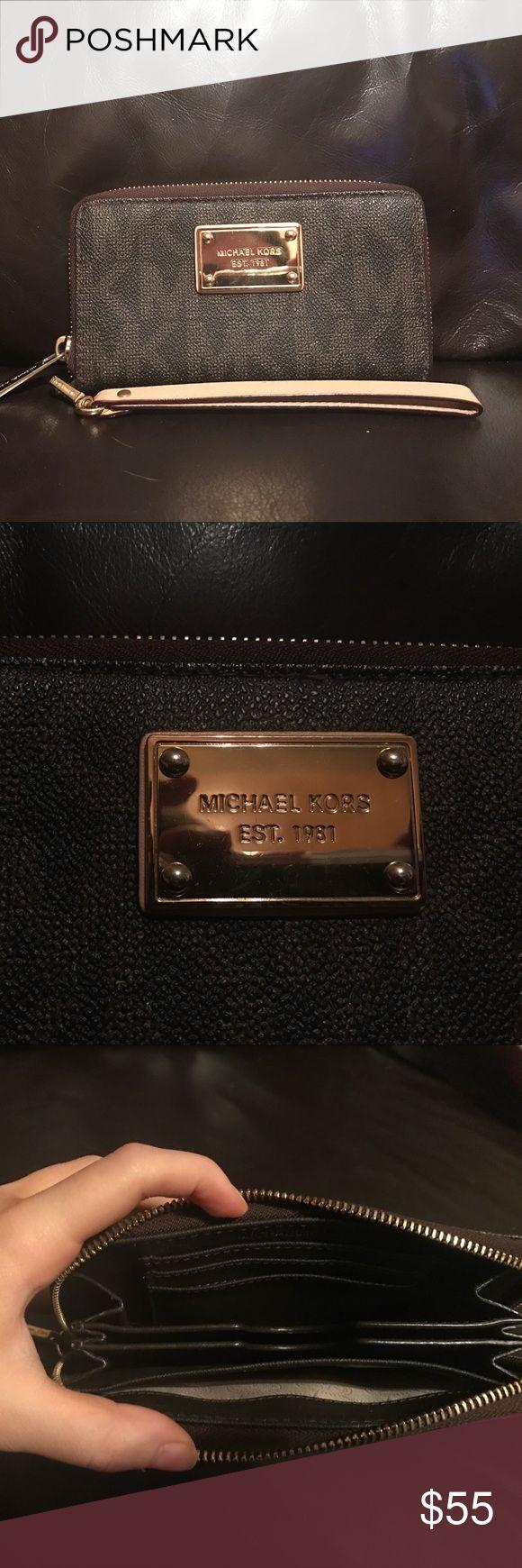 Michael Kors Wallet Brown Michael Kors Wallet. In great condition. Michael Kors Bags Wallets