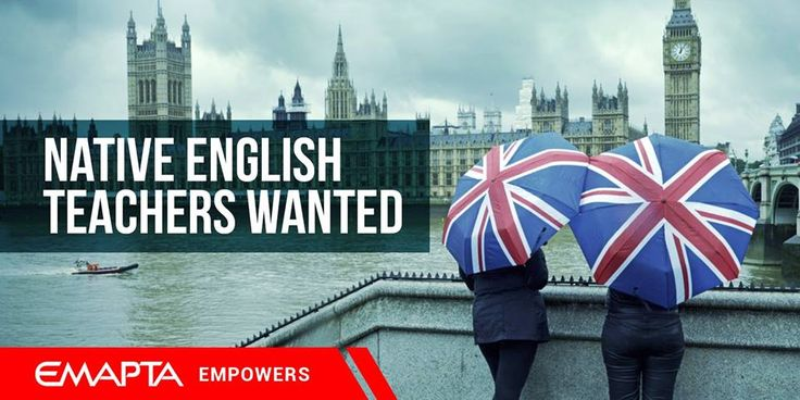 WE NEED NATIVE ENGLISH TEACHERS TO JOIN TEAM EMAPTA You must have at least 1 year experience in a similar role. Certifications from CELTA, TEFL or ESL a big plus. Email your latest CVs to jobsfb@emapta.com