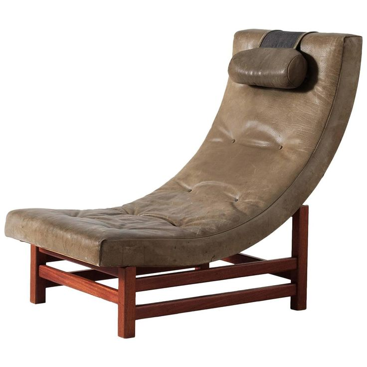 Leo Johansson Lounge Chair In Green Buffalo Leather