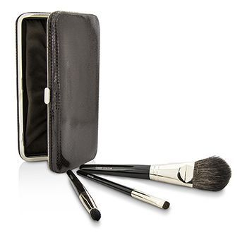 Travel Brush Kit: 1x Cheek Colour Brush 1x Smudge Brush 1x Eye Crease Brush 1x Case (unboxed)