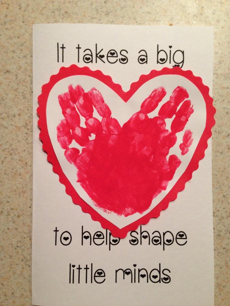 Reagan's teacher appreciation card for her awesome preschool teachers.