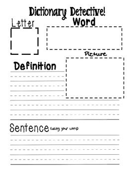 Dictionary Detective (literacy station)