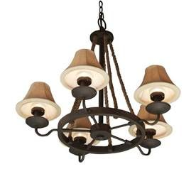 Outdoor Plug In Chandelier: allen + roth 5-Light Bronze Portable Outdoor Chandelier - This is the  outdoor light,Lighting