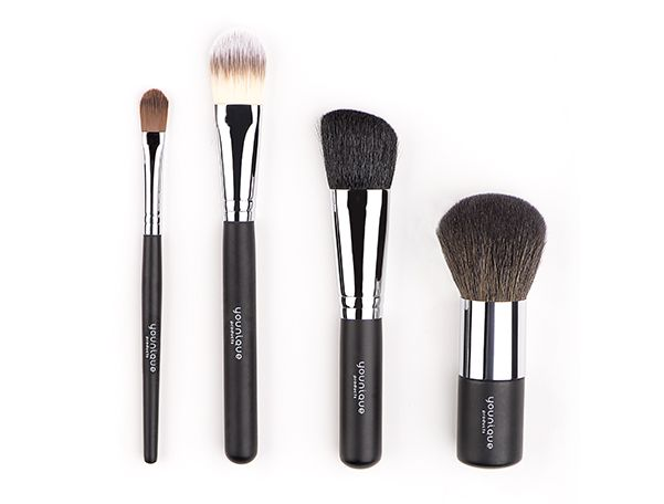 Face Brush Set -Includes the Concealer Brush, Foundation Brush, Powder Puff Brush, and Blusher Brush. Trending Younique Looks Featuring Face Brush Set
