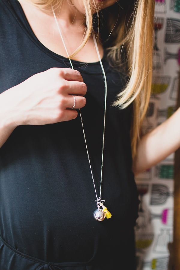 Harmony Ball Bola Necklace with a yellow pompon