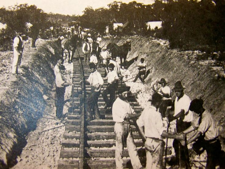 Building the Blue Mountains' railroad. 1867