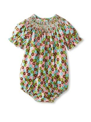 65% OFF Vive La Fete Kid's Geo Smocked Bubble Romper (Multi)