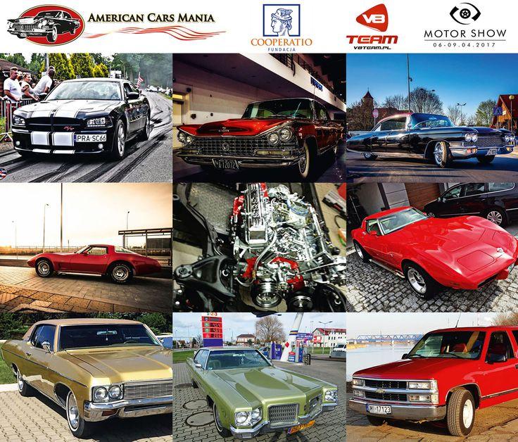 American Cars Mania na Motor Show Poznań Chevrolet Corvette z 1978 Buick Electra z 1959 Chevrolet Impala z 1970 Oldsmobil 98 Holiday Hardtop Chevrolet Silverado Cadillac Fleetwood Sixty Special 1960 Dodge Charger 2010 #musclecar