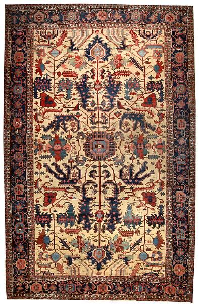 Lot 2075, a Serapi carpet Northwest Persia size approximately 12ft. x 18ft. 6in. Estimate: US$35,000 - 40,000