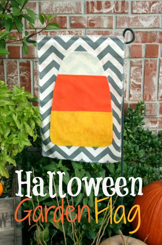 Halloween Garden Flag...scroll Down Thru Crafts.