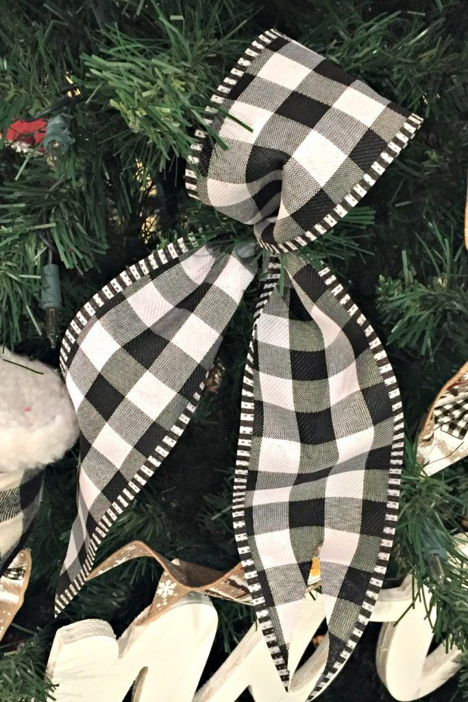 Buffalo Check Ribbon Ideas Plaid Christmas Decor Buffalo Plaid Christmas Decor Christmas Tree Bows