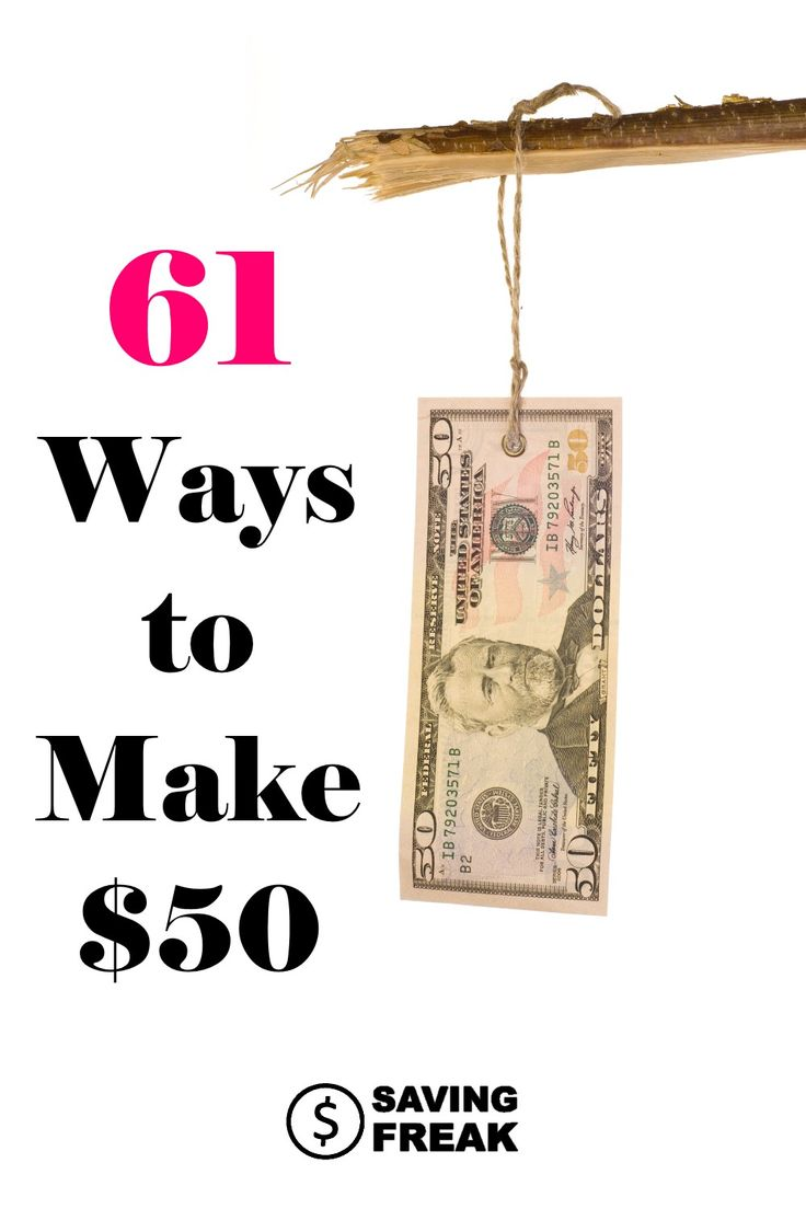 Making money online or on the side can be pretty tough. Here are 61 ways to make $50 as a side hustle.