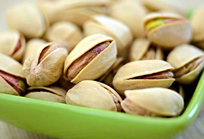 A UCLA study found that people who ate pistachios as part of their diet for 3 months lost 10 to 12 pounds on average. Like almonds, pistachios are a good source of MUFAs and fiber, and snacking on them is a great way to get part of your daily dose of vitamin B6, copper, and manganese. In addition to helping you flatten your belly, pistachios have also been shown to help lower triglyceride levels.