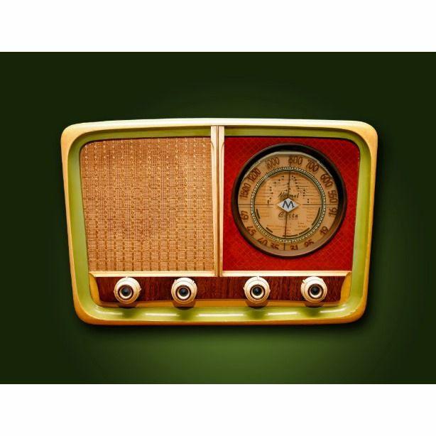 Retro Style Radio Postcard Vintage Radio Vintage Radio