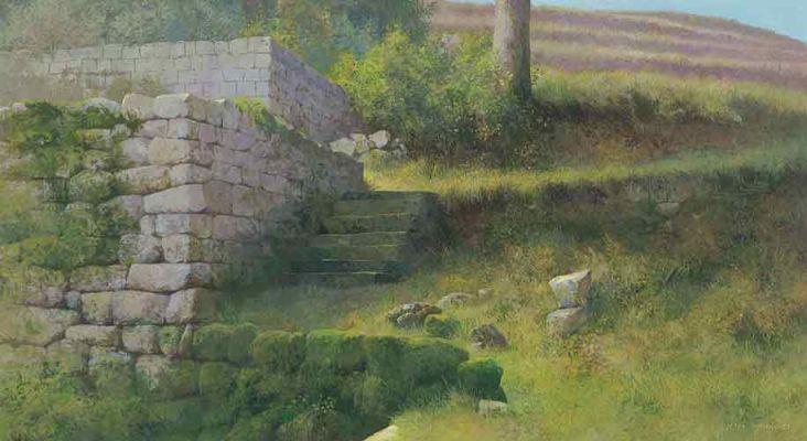 Klik op afbeelding om het venster te sluiten La Bruge Peter Durieux (1951)   2005  22 x 40 cm  schilderij  acrylverf