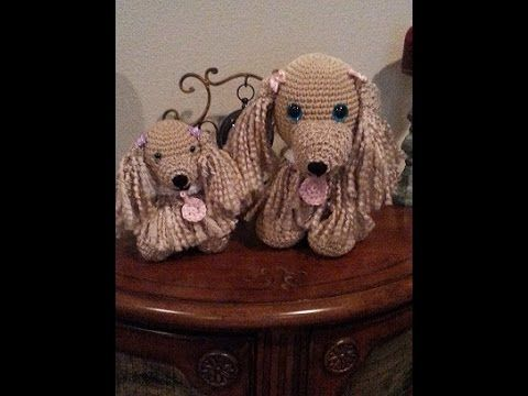 Crochet easy to follow Cocker Spaniel dog and puppy DIY tutorial part 1 - YouTube