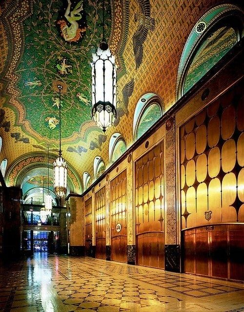 the Fisher Building (1928 Art Deco) is a landmark skyscraper in the United States, located in the heart of the New Center area of Detroit, Michigan.