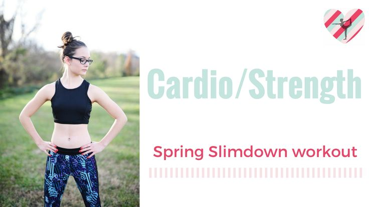 NEW VIDEO! 1st in the spring slimdown series. Featuring cardio/strength moves. Watch: https://www.youtube.com/watch?v=oyoVlGu6Rik
