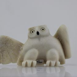 Beautiful owl carved by Joanasie Manning, an Inuit artist from Cape Dorset