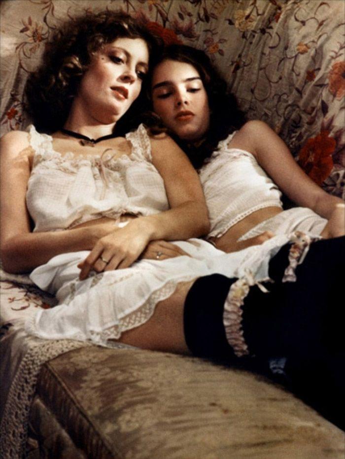 """Susan Sarandon y Brooke Shields en""""La pequeña"""", 1978"""
