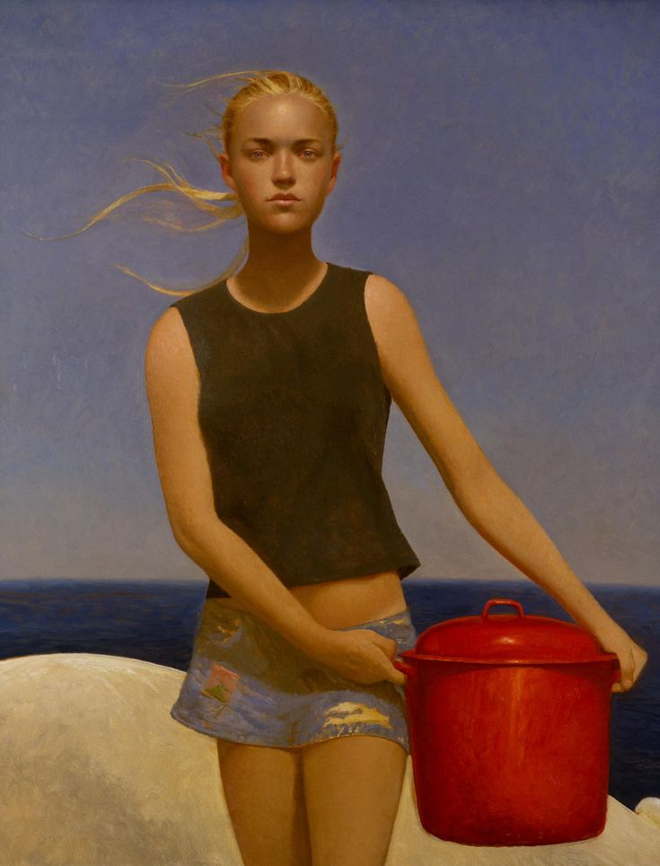 Bo Bartlett - Lobster Girl, 2004 - Oil on Linen - 58 x 48