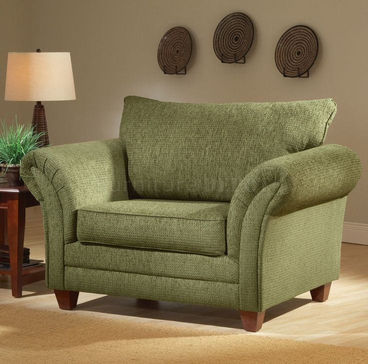 Overstuffed Green Chair So Comfy At Home Stylishly