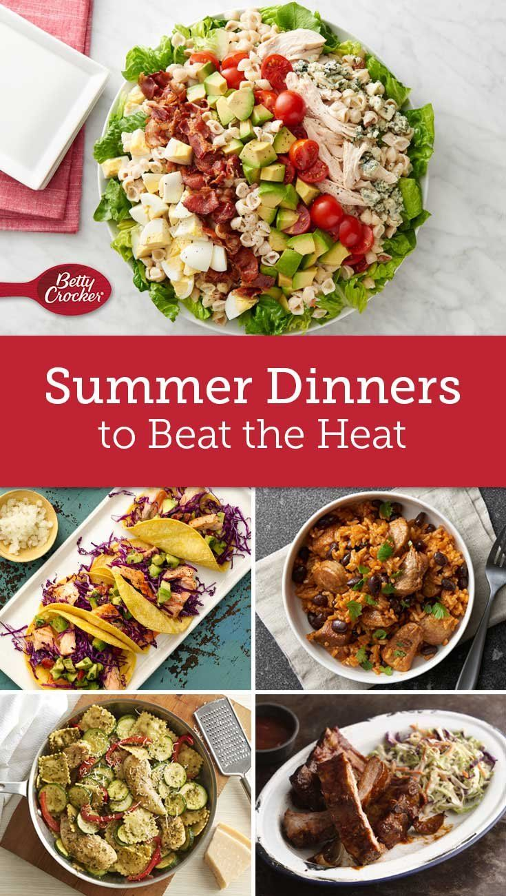 Summer Dinners That Beat The Heat Easy Summer Meals Cold Meals Summer Recipes Dinner